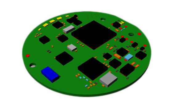 Firefly Ice Blue PCBA 3D Model